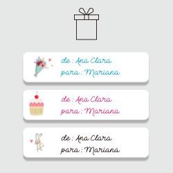 Etiqueta adesiva personalizada De / Para para presentes e lembranças