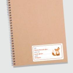 Etiqueta personalizada adesiva matéria escolar, para identificar cadernos, livros e apostilas