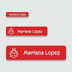 Kit de etiquetas personalizadas adesivas de vinil lavável para identificar objetos