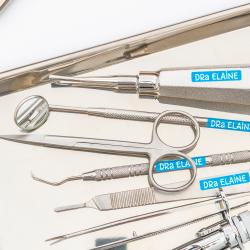 Kit de etiquetas personalizadas para instrumentais e equipamentos odontológicos