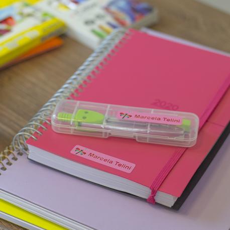 Kit básico de etiquetas personalizadas para identificar roupas e objetos