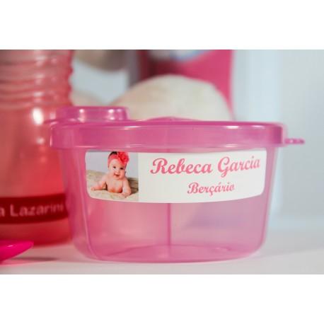 Kit de etiquetas personalizada adesivas e termocolantes para identificar roupinhas, copinhos, mamadeira, bico, potinhos e tudo o